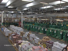 Interior from Arla warehouse