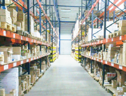Warehouse aisle at Lampdirect