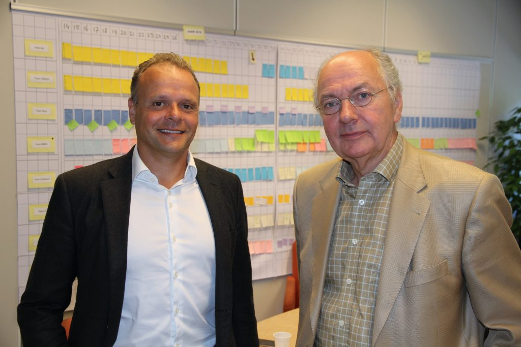 Ronald Janssen, CIOat CB and Peter Coenen, CB's Project Manager