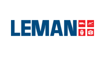 Leman logo blue and red