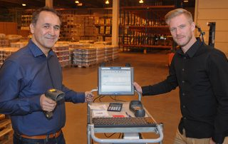 Ali Zeybek from Consafe Logistics & Tony Edmundsson , Operations Manager at Løvenskiold Logistikk