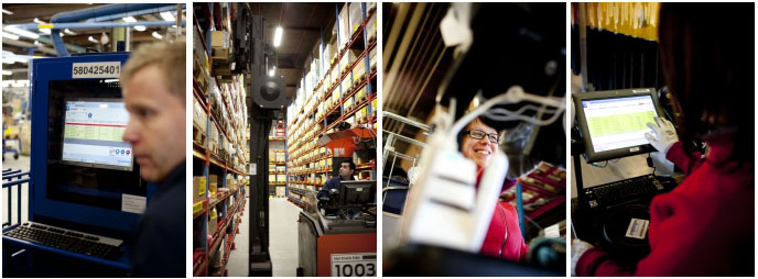 Warehouse workers operate at Enertech