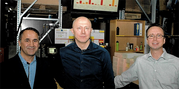 Ali Zeybek, Consafe Logistics with CEO of Møller Logistikk, Espen Egelund and Jon Strøm