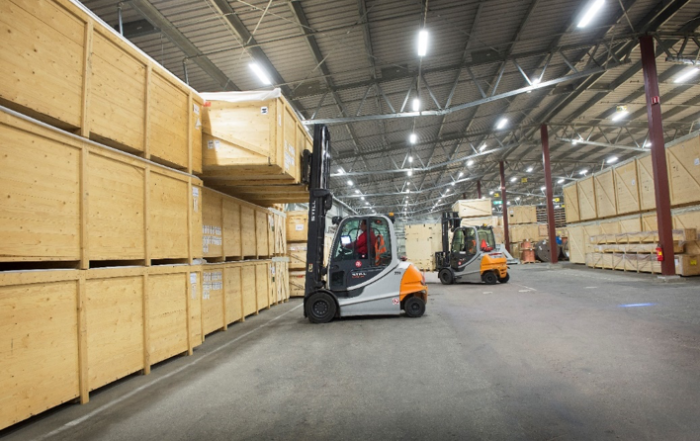 Warehouse at AA Logistik
