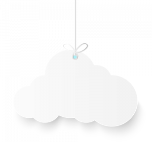 Cloud hanging in a string
