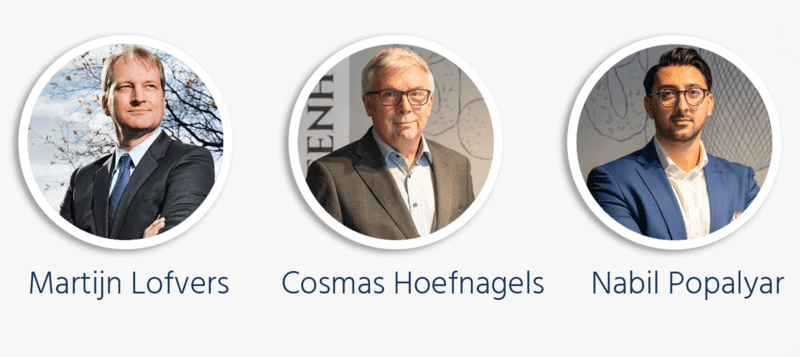 Martin Lofvers, Cosmas Hoefnagels and Nabil Popalyar profile pictures