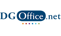 DGOffice blue logo with colorful dots under