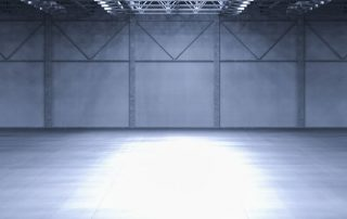 Empty warehouse before Astro WMS® Hub is implemented